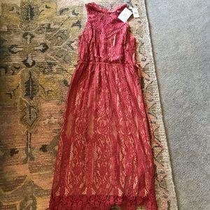 Wayf size 10 lace midi dress